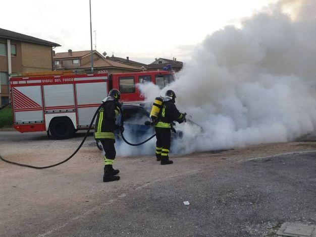 Vigili del fuoco al lavoro (foto Zeppilli)