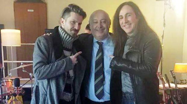 Alessandro Pelizzari con Rodrigo D'Erasmo e Manuel Agnelli