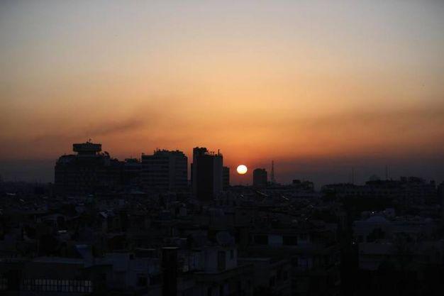 Missili su Damasco (Ansa)