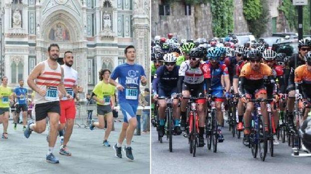 Ciclismo e podismo nella domenica di Firenze