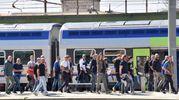 L'arrivo dei nerazzurri (Foto Novi)