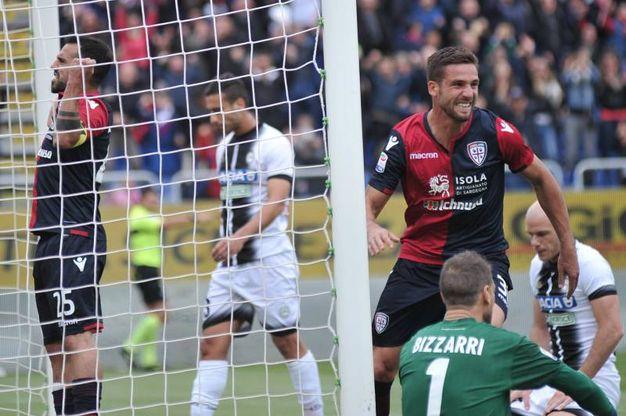 Cagliari-Udinese 1-1, Pavoletti (Lapresse)