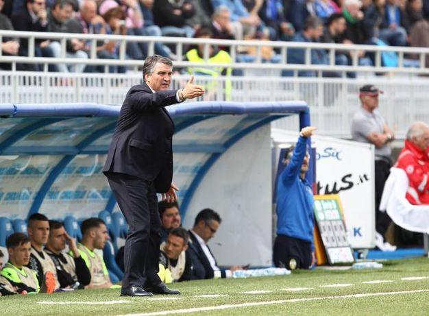 Novara-Ternana. L'allenatore Luigi De Canio (Lapresse)