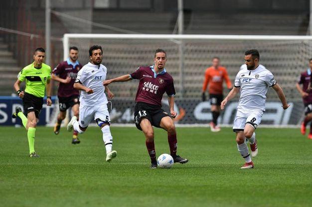 Il Cesena allo stadio Arechi pareggia 1-1 contro la Salernitana (foto LaPresse)