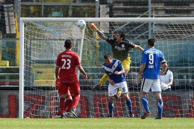 Il gol annullato al Brescia (foto LaPresse)