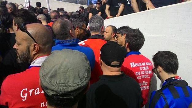 I tifosi del Pisa e il trasferimento dalla stazione allo stadio