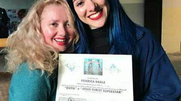 Federica Basile con Fabiola Ricci, direttrice artistica e didattica dell'Accademia