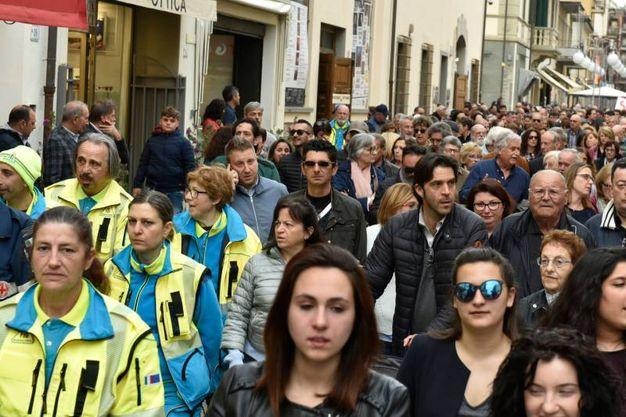 Follonica, la manifestazione contro la criminalità (foto Agostini)