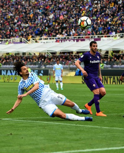 Felipe non arriva sulla punizione di Viviani (foto Businesspress)