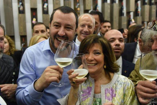 Il brindisi tra Salvini e Casellati (Imagoeconomica)