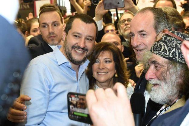 Salvini, Casellati, Zaia e Corona  (Imagoeconomica)