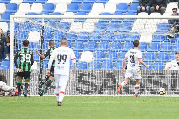 Sassuolo-Benevento 2-2, Diabaté (LaPresse)