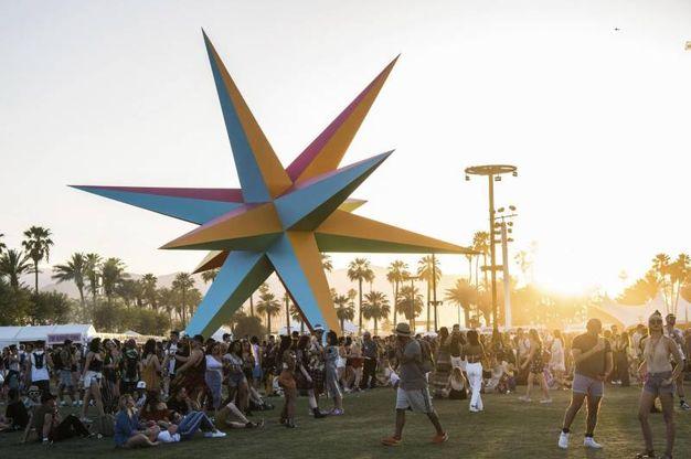 Il festival Coachella a Indio, in California (Ansa)
