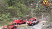 I vigili del fuoco intervenuti sul Monte Nerone