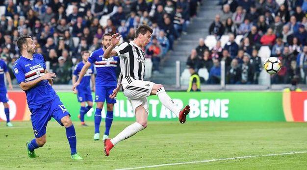 Juve-Sampdoria 1-0, Mandzukic (Ansa)
