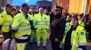 Tutta Minerbio ha partecipato al momento di raccoglimento (foto Radogna)
