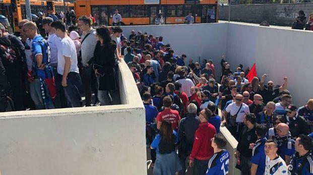 I tifosi del Pisa arrivati in massa sabato all'Armando Picchi