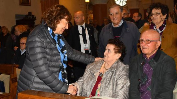 Meris Corghi, figlia del partigiano Giuseppe, e Rosanna Rivi, sorella di Rolando
