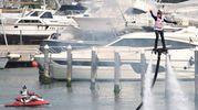 Spettacolare esibizione volante alla darsena in occasione del Nautic Expo Rimini (foto Migliorini)