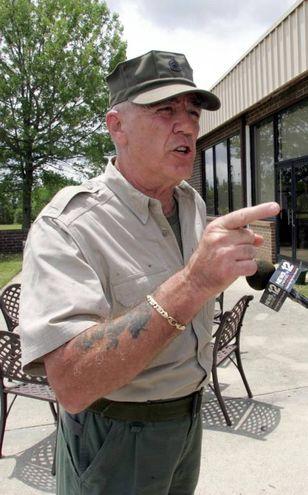 R. Lee Ermey, il sergente Hartman di Fuul Metal Jackett (Ansa)