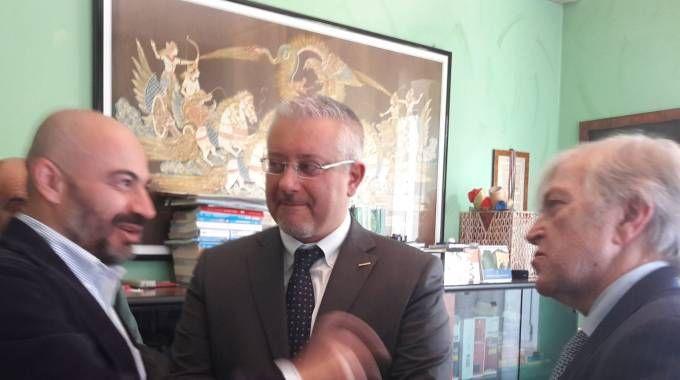 Sergio Bramini con Gianmarco Corbetta e Perluigi Paragone