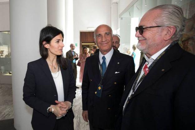 Virginia Raggi al Gran Premio di Formula E a Roma (LaPresse)