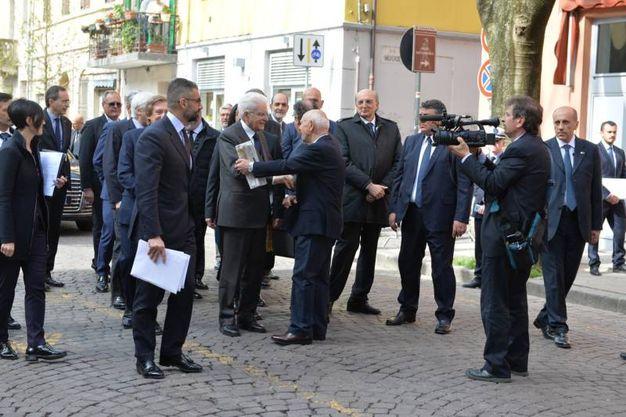 L'arrivo di Mattarella a Forlì (foto Frasca)