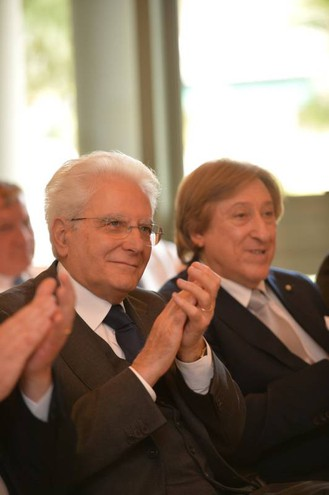 Il presidente Mattarella all'Irst
