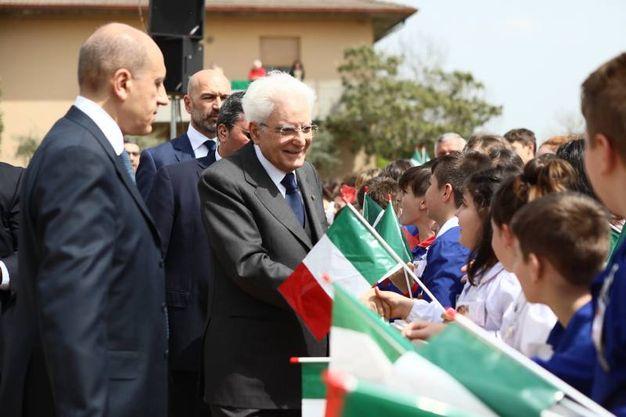 Mattarella incontra i bambini (foto Frasca)