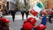 I bambini accolgono il Presidente (foto Frasca)