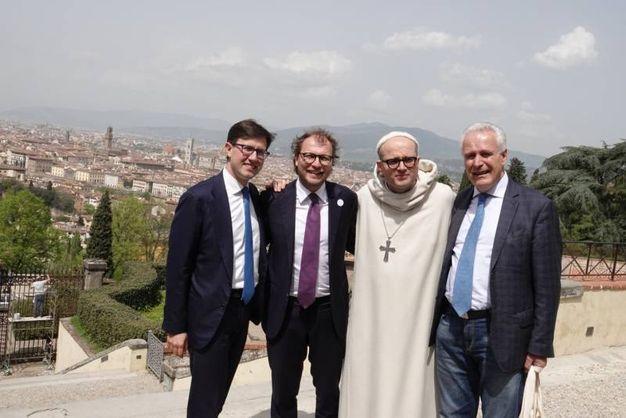 Nardella, Lotti, Padre Bernardo e Giani (Gianluca Moggi / New Press Photo)