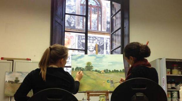 M. Vittoria Capuani e Carlotta Corduas hanno realizzato 3 copie de 'I papaveri' di Monet
