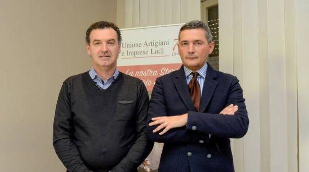 Il presidente Nicola Marini e il segretario Mauro Sangalli (Cavalleri)