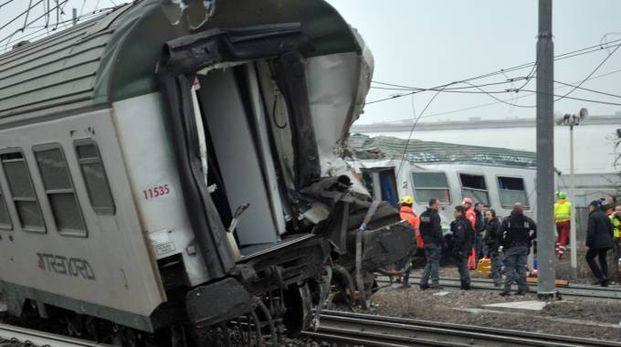 Il treno deragliato a Pioltello il 25 gennaio