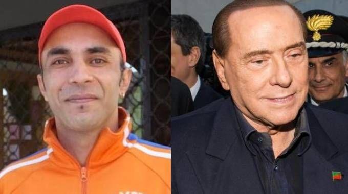 A sinistra Radjinder Singh, a destra Silvio Berlusconi