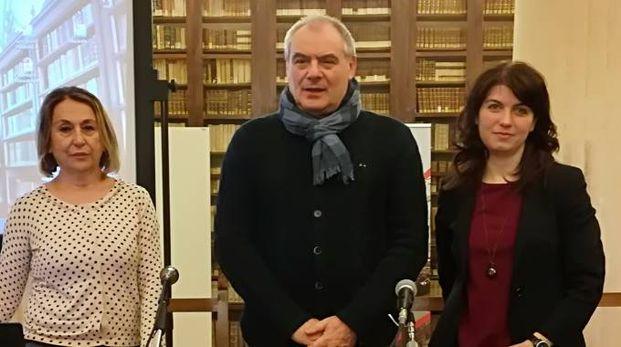 Irina Berdini (organizzatore Promotion Marketing), Vittorio Lanciani (presidente Ordine architetti Macerata) e Paola Casoni (assessore all'edilizia)