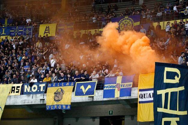 Verona-Sassuolo, il pubblico del Verona (foto LaPresse)