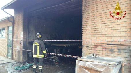 Incendio in officina meccanica