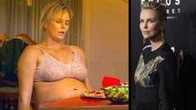 Charlize Theron prima e dopo il dimagrimento per 'Tully'