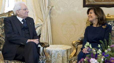 Maria Elisabetta Alberti Casellati a colloquio con Mattarella (Imagoeconomica)