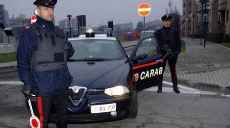 Un posto di blocco di carabinieri