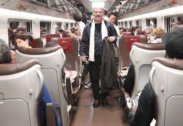 In treno (Foto Schicchi)