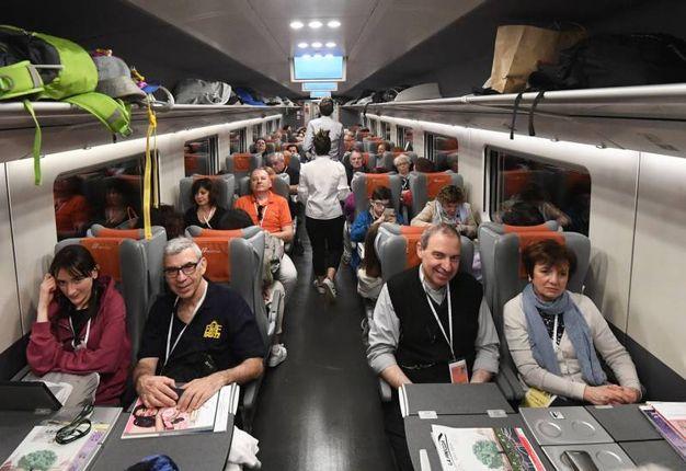 In treno (foto Schocchi)