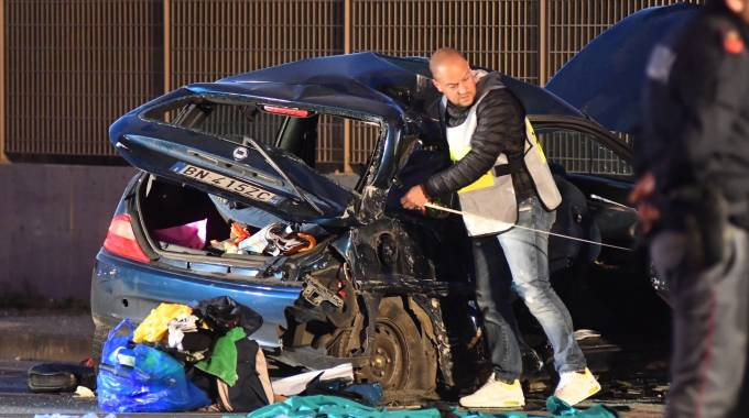La scena dell'incidente (Foto Delia)