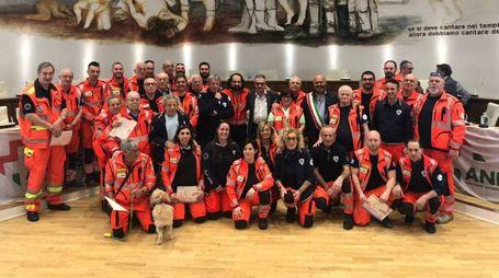 Foto di gruppo durante la riunione di Anpas Toscana