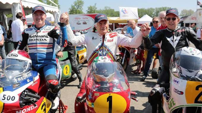 Freddie Spencer, Giacomo Agostini e Phil Read