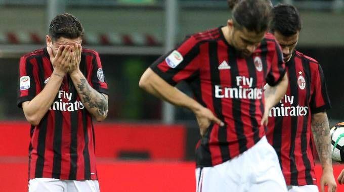 Milan-Benevento 0-1 (Foto Ansa)