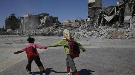 Siria, la distruzione di Raqqa (Ansa)