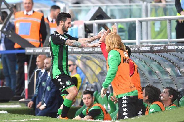 Sassuolo-Fiorentina 1-0, gol di Politano (Lapresse)