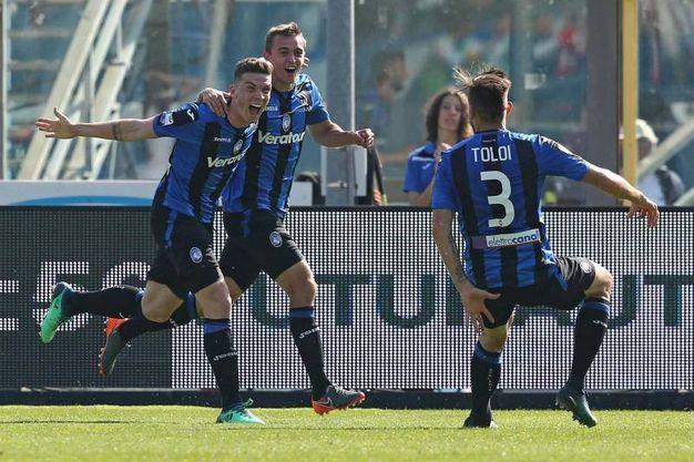 Atalanta-Torino 2-1, gol di Gosens (Ansa)